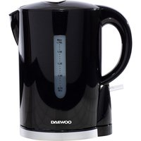 Daewoo 1.7L 2200W Plastic Kettle - Black with Chrome Band