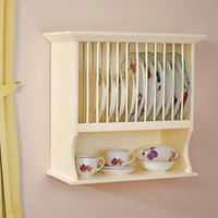 Country Kitchen Wall Plate Rack - Cream