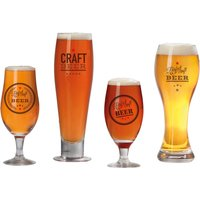Clifford James Craft Beer Glasses with Logo - Set of 4
