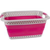 Kleeneze Foldable Laundry Basket - Pink