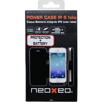 NeoXeo Power Bank 2000mAh Folio Case for iPhone 5/5S - Black