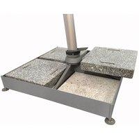 Glatz 180kg Sombrano Static Base - 1 Frame, 4 Concrete and 4 Granite Slabs