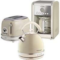 Ariete Vintage 2-Slice Toaster, 1.7L Dome Kettle, and 12-Cup Filter Coffee Maker - Cream