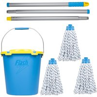 Flash Duo Mop With Refills and Mop Bucket