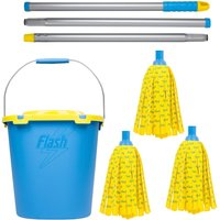 Flash 30% Microfibre Mop With Refills and Mop Bucket