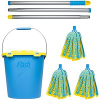 Flash Lightning Mop With Refills and Mop Bucket