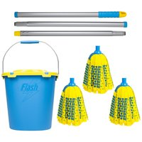 Flash Mighty Mop With Refills and Mop Bucket