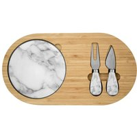 Alfred Franks and Bartlett Bamboo and Marble Cheeseboard Set