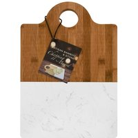 Alfred Franks and Bartlett Large Bamboo and Marble Chopping Board