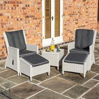 Rowlinson Prestbury Lounger Set - Light Grey