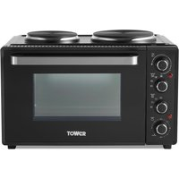 Tower 32L Mini Oven with Hobs - Black