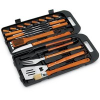 Landmann Grill Chef 18 Piece Stainless Steel & Bamboo Tool Set in Case