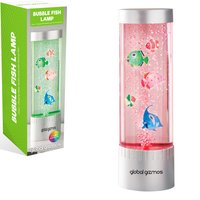 Global Gizmos 32cm Desktop Water Bubble Lamp With Fish