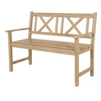 Pacific Lifestyle Cambridge Light Teak Acacia Wood Bench