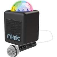 Mi-Mic TY6149 Mini Kids Karaoke Machine and Disco Cube Bluetooth Speaker with Mic & LED Lights - Black