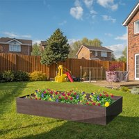 NBB Recycled Furniture EverYear Raised Bed L1200 x D640 x H400mm - Brown