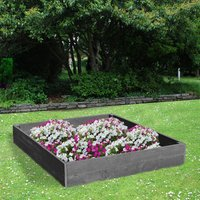 NBB Recycled Furniture EverYear Raised Bed L1200 x D1240 x H200mm - Grey