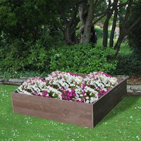 NBB Recycled Furniture EverYear Raised Bed L1200 x D1240 x H300mm - Brown