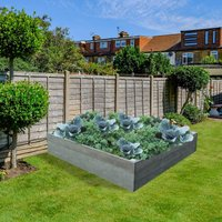 NBB Recycled Furniture EverYear Raised Bed L1200 x D1240 x H300mm - Grey