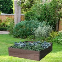NBB Recycled Furniture EverYear Raised Bed L1200 x D1240 x H400mm - Brown