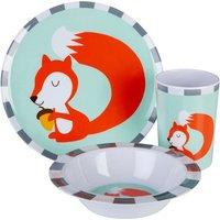 Maison By Premier Mimo 3-Piece Susie Squirrel Kids Dinner Set - Multi-Coloured