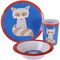 Maison By Premier Mimo 3-Piece Ralph Raccoon Kids Dinner Set - Multi-Coloured