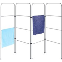 OurHouse 4 Gate Folding Clothes Airer