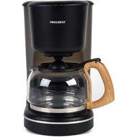 Progress EK3757PBLK Scandi 1080W Coffee Maker - Black/Wood Effect Finish