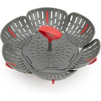 Joseph Joseph Duo Folding Steamer Basket - Grey/Red