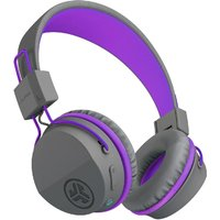 JLab JBuddies Studio Wireless Over Ear Kids Foldable Headphones - Grey/Purple