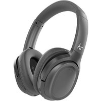 KitSound Engage 2 Wireless Bluetooth On Ear Foldable Headphones with Active Noise Cancelling - Black