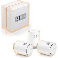 Netatmo Smart Thermostat + 3 Additional Smart Radiator Valves - White