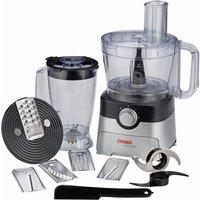 Cooks Professional 1000W Food Processor - Black/Silver