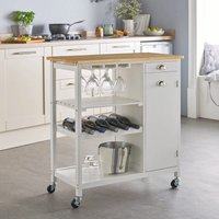 Robert Dyas Contemporary Double Kitchen Trolley - White