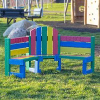 NBB Recycled Furniture NBB Childrens Recycled Plastic Buddy Bench - Multi-Coloured