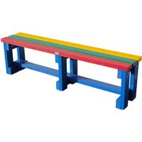NBB Recycled Furniture NBB Recycled Plastic Backless 120cm Bench - Multi-Coloured
