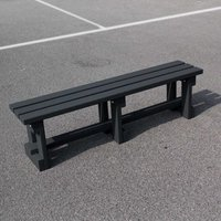NBB Recycled Furniture NBB Recycled Plastic Backless 150cm Bench - Black