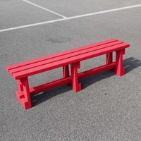 NBB Recycled Furniture NBB Recycled Plastic Backless 150cm Bench - Cranberry Red