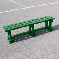 NBB Recycled Furniture NBB Recycled Plastic Backless 150cm Bench - Green