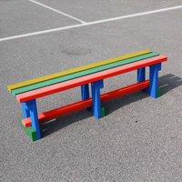 NBB Recycled Furniture NBB Recycled Plastic Backless 150cm Bench - Multi-Coloured