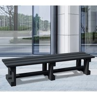 NBB Recycled Furniture NBB Recycled Plastic Backless 200cm Bench - Black