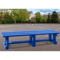 NBB Recycled Furniture NBB Recycled Plastic Backless 200cm Bench - Blue