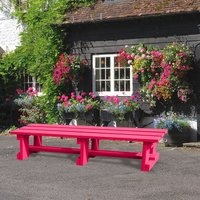 NBB Recycled Furniture NBB Recycled Plastic Backless 200cm Bench - Cranberry Red
