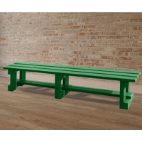 NBB Recycled Furniture NBB Recycled Plastic Backless 200cm Bench - Green