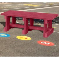 NBB Recycled Furniture NBB Junior Recycled Plastic 90cm Backless Bench - Cranberry Red