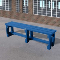 NBB Recycled Furniture NBB Junior Recycled Plastic 150cm Backless Bench - Blue
