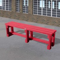 NBB Recycled Furniture NBB Junior Recycled Plastic 150cm Backless Bench - Cranberry Red