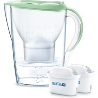 BRITA Marella Water Filter Jug inc 2 Cartridges - 2.4L Pastel Green