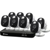 Swann Smart Security CCTV System: 8 Camera 8 Channel 1080p Full HD DVR Security System - DVR-4680 with 1TB HDD and 8 x 1080p Heat and Motion Sensing Warning Light Security Cameras PRO-1080MSFB