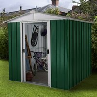 Yardmaster Emerald No Floor Metal Apex Shed 6 x 4.5ft